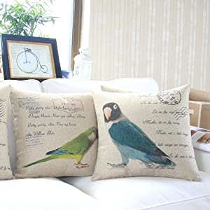 """Yamimi parrot Linen Cloth Pillow Cover Cushion Case 18"""",Q175 from Yamimi"""