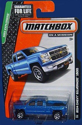 Matchbox MBX Explorers 2014 Chevy Silverado 1500 Blue #118/120 - 1