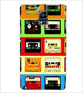 PrintDhaba Casettes D-4537 Back Case Cover for SAMSUNG GALAXY NOTE 2 (Multi-Coloured)