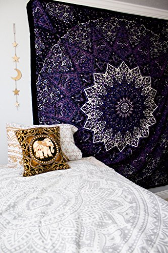 Popular-tapestry-Twin-Hippie-Mandala-Bohemian-Psychedelic-Intricate-Floral-Design-Indian-Bedspread-Magical-Thinking-Tapestry-84x54-Inches215x140cms-Blue-Purple-By-Popular-Handicrafts