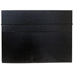 JAM Paper Strong Thin Portfolio Carrying Case with Elastic Band Closure - 9 1/4\