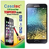 Casotec 2.5D Curved Edge Tempered Glass Screen Protector For Samsung Galaxy E5