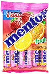 Mentos Rolls, Fruit, 7.92 Ounce Rolls…