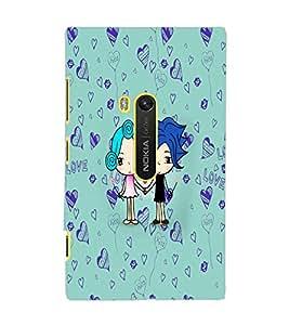 PrintDhaba Love D-5867 Back Case Cover for NOKIA LUMIA 920 (Multi-Coloured)
