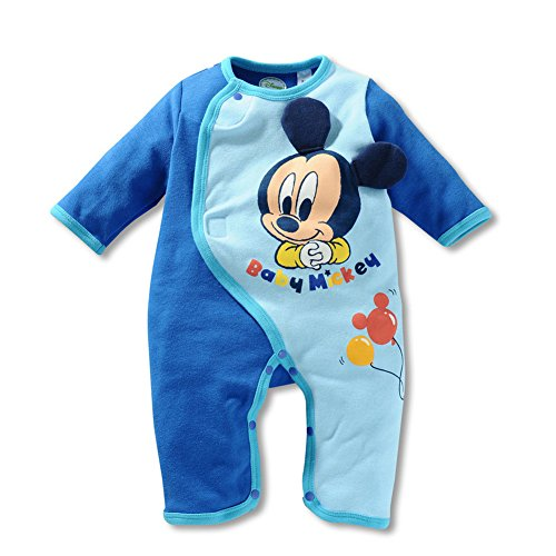 Pure Cotton Baby Pajamas Fastener Cartoon Mickey Button Jumpsuits