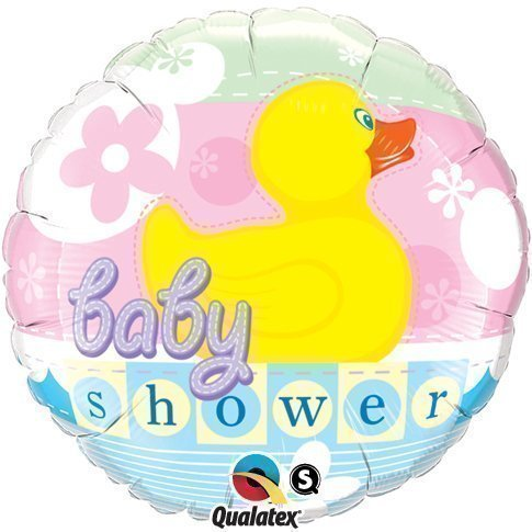 "Baby Shower Rubber Duckie Qualatex 18"" Foil Balloon"