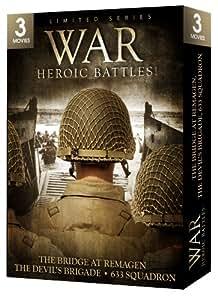 War: Heroic Battles - 3 Movie Set - The Bridge at Remagen / The Devil's Brigade / 633 Squadron
