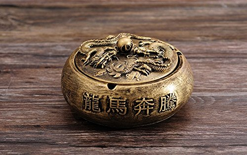 ashtray outdoor stand vintage smokeless tray antique cool unique Ceramics Bowl Gold Black 1