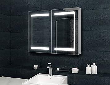 allround spiegelschrank mit aluminium korpus innovative spiegelt r 100x70cm dc869. Black Bedroom Furniture Sets. Home Design Ideas