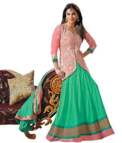 Fancy Anarkali Suits Lara Dutta wearing Anarkali Salwar suits, Salwar Kameez, Anarkali Suits, Semi stitched (black)