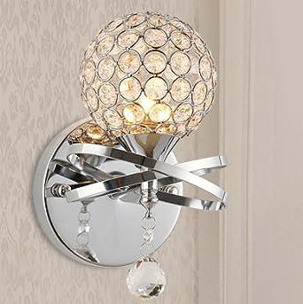 LED Nacht Tisch Lampe Silber Wohn Schlaf Zimmer Leuchte Opal Living-XXL