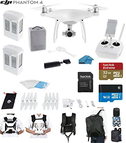 DJI Phantom 4 Quadcopter Drone with 4K Video EVERYTHING YOU NEED KIT