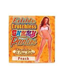 edible panties peach gummy underwear