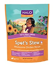 Halo Spot's Stew Holistic Dry Dog Food, Wholesome Chicken, 4 LB Bag of Small Breed Dog Food