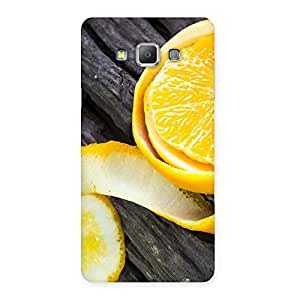 Cute Orange Peal Blackish Back Case Cover for Galaxy A7