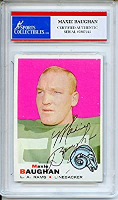 Maxie Baughan Autographed Los Angeles Rams Encapsulated Trading Card - Certified Authentic