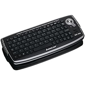 IOGEAR GKM681R 2.4GHz Wireless Compact Keyboard with Optical Trackball and Scroll Wheel (Silver/Black)
