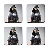 Hanna Battlefield 4 Ea Digital Illusions Ce Custom Square Coaster (4 Piece) Stylish, Durable Cork Pad Anti Skid Mat Stain Resistance