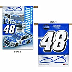 Jimmie Johnson 48 Flag 28 x 40 Double Sided Banner by WinCraft