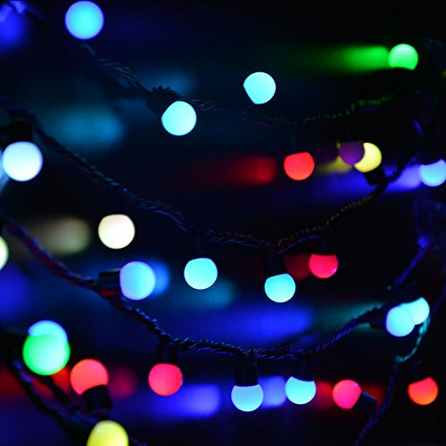 Unusual Christmas String Lights : lederTEK Christmas 50 LED 16ft RGB Ball Light, Color Change Novelty Fairy Globe String Lights ...