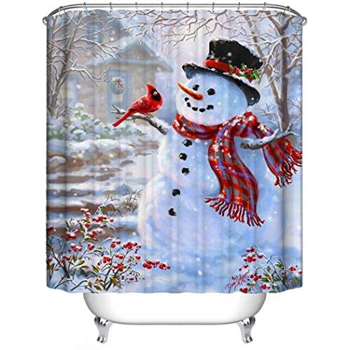 Snowman shower curtain sets comfy christmas
