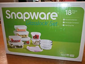 Snapware Glasslock Glass Storage Containers with Lids 18pc Set Nesting Design
