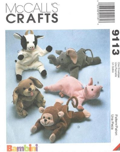 McCall's 9113 - Bambini Animal Bean Bags - 5 Patterns - 1