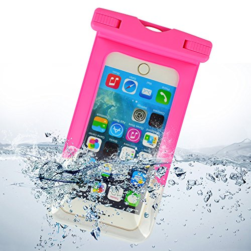 ECCRIS discount duty free Sumaclife Waterproof Case, with Neck Strap Waterproof Pouch Cell Phone Holsters & Clips for 5.5 Inch Devices, for Apple iPhone 4S / Apple iPhone 5 / Apple iPhone 5C / Apple iPhone 5S / Apple iPhone 6 / Apple iPhone 6 Plus (magenta)