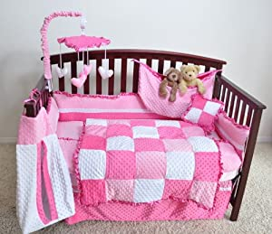 Neatbaby Designs 4 piece Crib Bedding Set, Pink