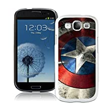 buy Captain America Shield White Samsung Galaxy S3 Cellphone Case Lovely And Grace Look
