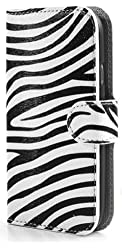 Zebra Stripe Leather Case Card Slots Stand Samsung S3 I9300 T999 Cover Clutch Purse Wallet