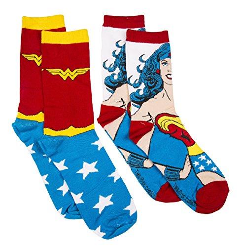 DC-Comics-Wonder-Woman-Damenstrmpfe-2er-Pack