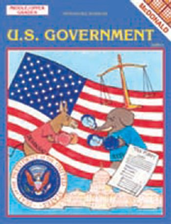 MCDONALD PUBLISHING MC-R561 THE U.S. GOVERNMENT GR. 6-9
