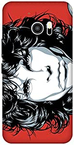The Racoon Grip Jim Morrison hard plastic printed back case / cover for HTC 10