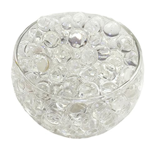Huathy Crystal Soil Water Beads, 2oz/57g, Aqua Gel Ball for Wedding Flower Planting Mud Vase Decor Filler (Small Jelly Beads compare prices)