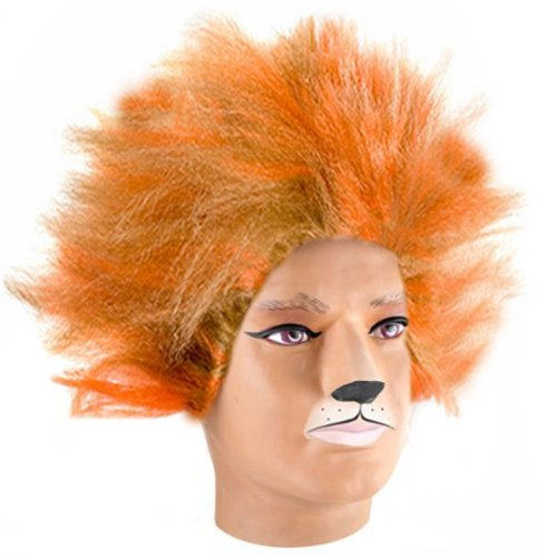 Costume Adventure Unisex Adult Orange and Blonde Cat's Musical Wig