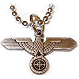 German Eagle SNIPER SCOPE Military Army Pendant Necklace w/ ball Chain
