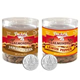 Chocholik Dry Fruits - Almonds Jamaican Jerk & Lemon Pepper With 5gm X 2 Pure Silver Coins - Diwali Gifts - 2...