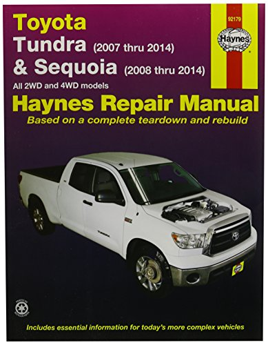 Haynes Repair Manuals Toyota Tundra 2007-2012 and Sequoia 2008-2012 (92179) (Manual Toyota Tundra compare prices)