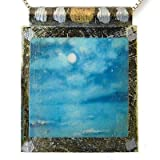 "Eco Art Print Necklace: ""Night Ocean"""