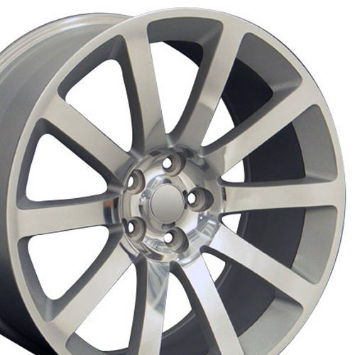 20x9 Wheel Fits Chrysler 300, Charger, Challenger - 300 SRT Style Silver Rim (Rims For Dodge Charger 2008 compare prices)