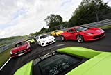 ポスター A4 パターンA 世界のスーパーカー「FERRARI 458 vs Lamborghini Gallardo vs Lexus LF-A vs Benz SLS AMG vs Nissan GT-R vs Porsche 911 Turbo vs Wiesmann MF5」光沢プリント