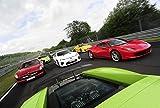 ポスター A4 パターンA 世界のスーパーカー「FERRARI 458 vs Lamborghini Gallardo vs Lexus LF-A vs Benz SLS AMG vs Nissan GT-R vs Porsche 911 Turbo vs Wiesmann MF5」光沢プリント
