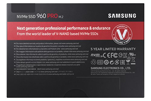 Samsung 960 PRO Series - 512GB PCIe NVMe - M.2 Internal SSD (MZ-V6P512BW)