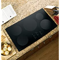 GE Profile CleanDesign : PHP960DMBB 36 Induction Cooktop, 5 Induction Elements- Black