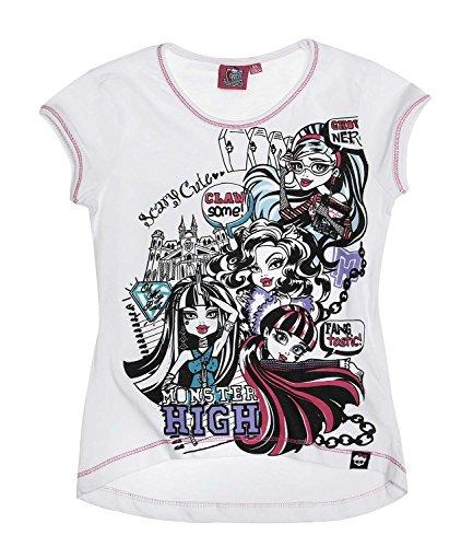 Monster High Ragazze Maglietta manica corta - bianco - 152