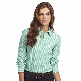 chaps no iron shirt at amazon women s clothing store