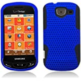 Aimo Wireless SAMU380PCPA002 Hybrid Armor Cheeze Case for Samsung Brightside U380 - Retail Packaging - Black/Blue