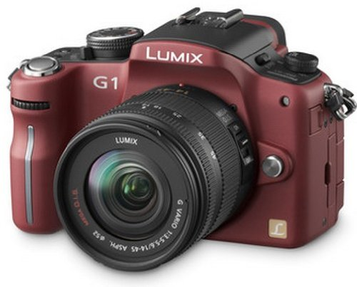 Panasonic Lumix G1 Digital System Camera Kit - Red (12.1MP)