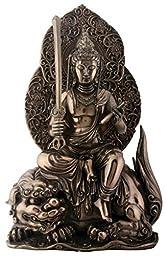 11.25 Inch Bronze Colored Cold Cast Resin Buddhist Manjushri Statue by Summit